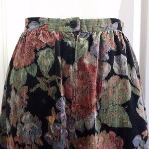 Vintage Skirts - Dorothy Schoelen 70s Vintage Midi Chenille Skirt S